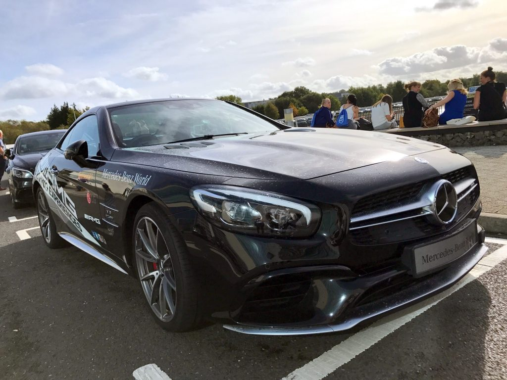The winner took the Mercedes-Benz SL 63 AMG for a test drive at Mercedes-Benz World, Surrey, track.